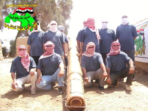 جيش رجال الطريقة النقشبندية قصف مقر للعدو الامريكي بصاروخ الحق بتاريخ 28-10-2012 022