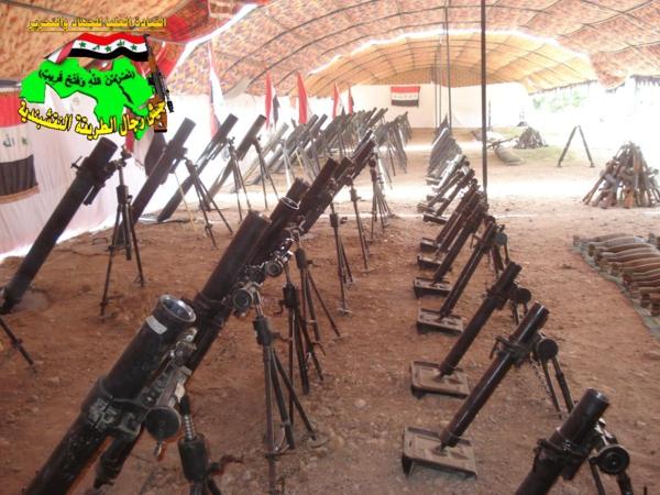 جيش رجال الطريقة النقشبندية قصف مقر للعدو الامريكي بصاروخ الحق  بتاريخ 6-11-2012 058