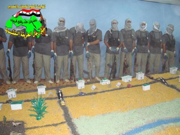 جيش النقشبندية قصف مقر للعدو الامريكي بصاروخ البينة بتاريخ 19-2-2013 133