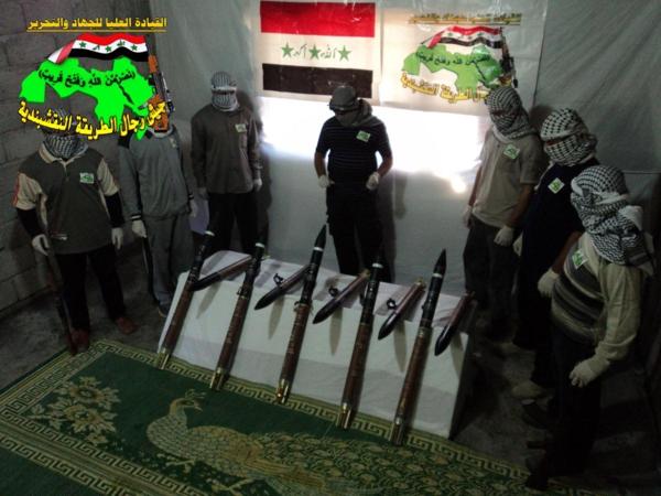 جيش النقشبندية قصف مقر للعدو الامريكي بصاروخي الحق بتاريخ 13-8-2013 155