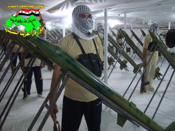عاجل جيش رجال اطلريقة النقشبندية قصف مقر للعدو الامريكي بتاريخ 25/9/2012 178