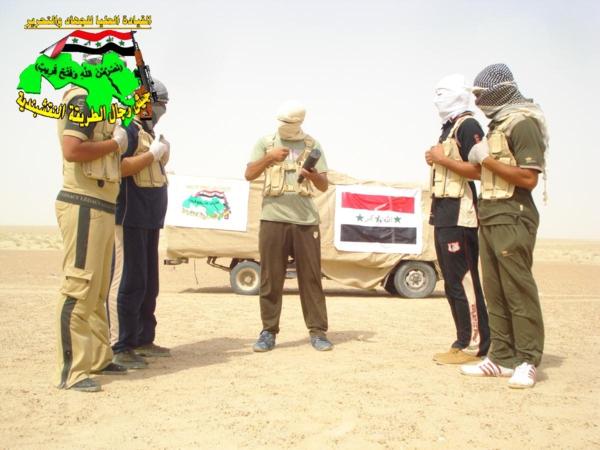 جيش النقشبندية قصف مقر للعدو الامريكي بصاروخي النذير بتاريخ 14-2-2013 187
