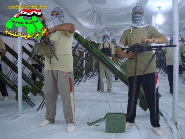 جيش رجال الطريقة النقشبندية قصف مقر للعدو الامريكي بصاروخي الحق بتاريخ 13/9/2012 232