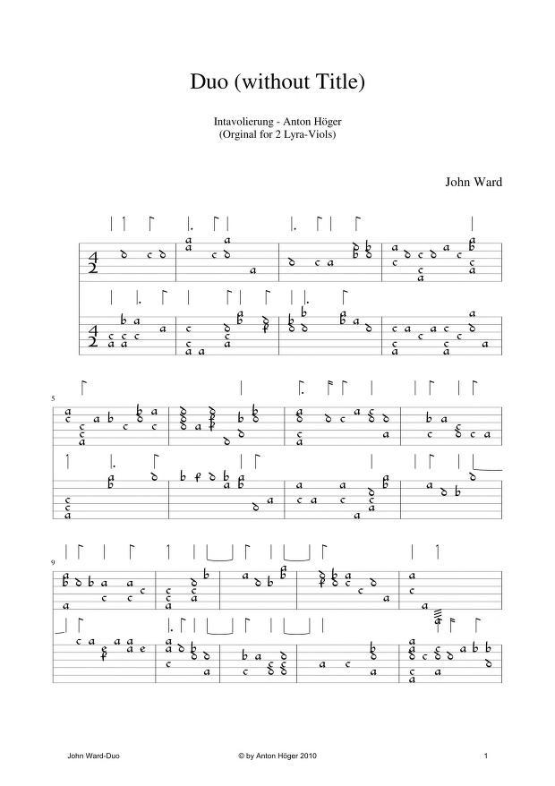 John Ward - Duo for 2 Lyra-Viols