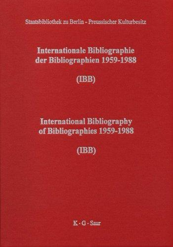 Download International Bibliography of Bibliographies 1959-88