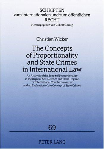 The Concepts of Proportionality and State Crimes in International Law