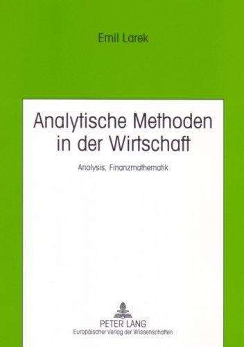 Analytische Methoden in Der Wirtschaft