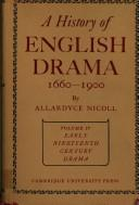 Download A History of English Drama 16601900