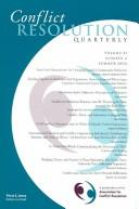 Download Conflict Resolution Quarterly, No. 4 (J-B MQ Single Issue Mediation Quarterly)