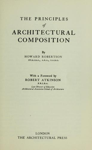 The principles of architectural composition