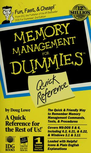 Memory Management for Dummies Quick Reference by Doug Lowe