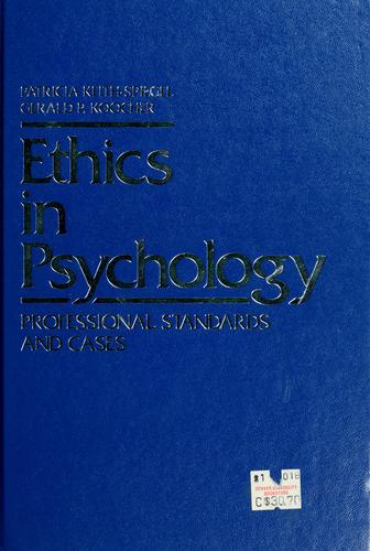 Download Ethics in psychology