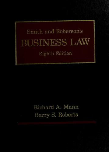 Smith and Roberson's business law.
