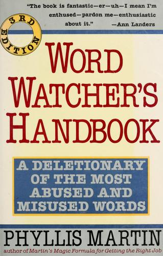 Download Word watcher's handbook