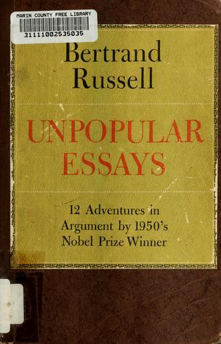 Download Unpopular essays