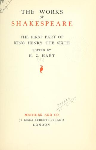 Download The first part of King Henry the Sixth.