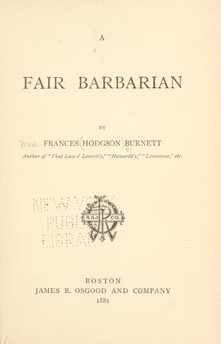 Download A  fair barbarian