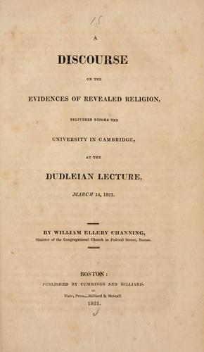 Download A discourse on the evidences of revealed religion