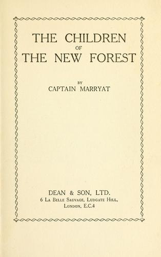 Download The children of the New Forest.