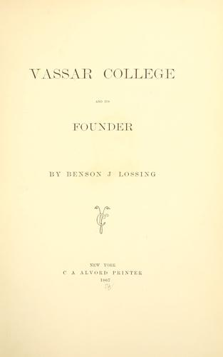 Download Vassar college and its founder.