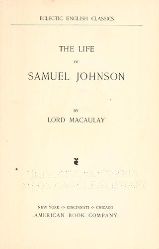Download The life of Samuel Johnson.