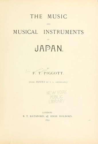 Download The music and musical instruments of Japan