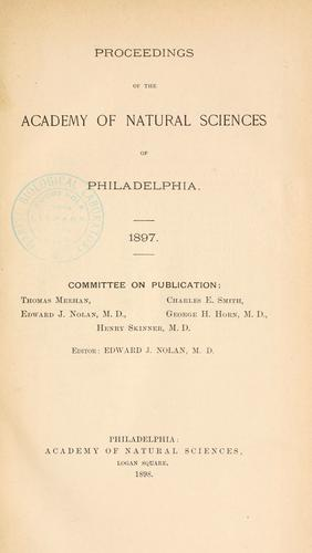 Download Proceedings of the Academy of Natural Sciences of Philadelphia, Volume 49
