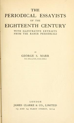 Download The periodical essayists of the eighteenth century.