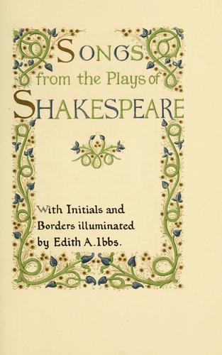 Songs from the plays of Shakespeare.