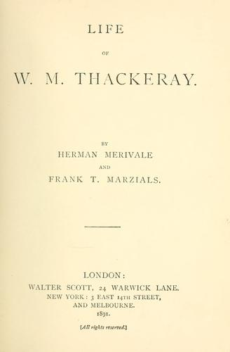 Download Life of W. M. Thackeray