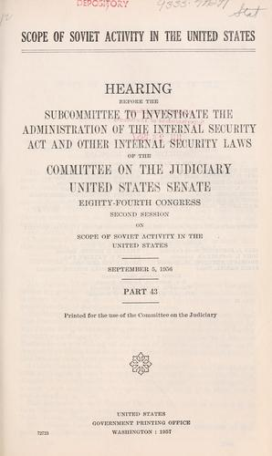 Download Scope of Soviet activity in the United States.