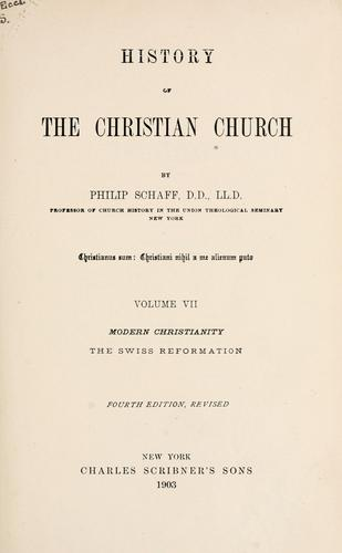 Download History of the Christian church.