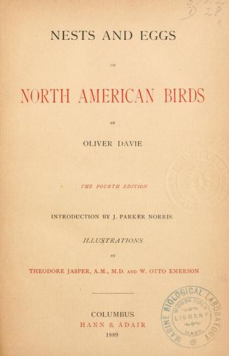 Nests and eggs of North American birds
