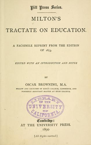 Download Milton's tractate on education.