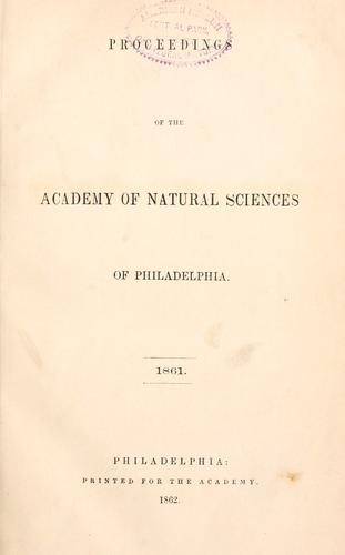 Download Proceedings of the Academy of Natural Sciences of Philadelphia, Volume 13