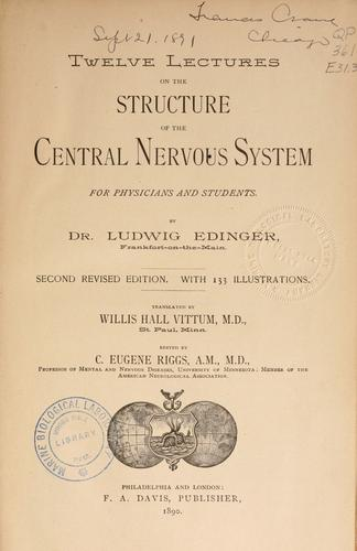 Download Twelve lectures on the structure of the central nervous system …