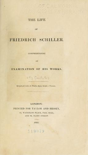 Download The  life of Friedrich Schiller.