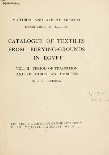 Download Catalogue of textiles from burying-grounds in Egypt.