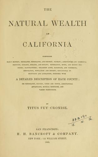 Download Natural wealth of California