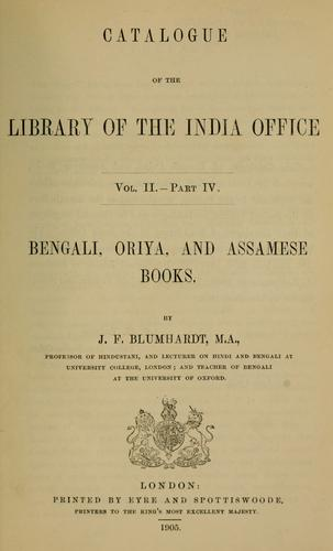 Catalogue of the library of the India office …