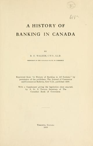 Download A history of banking in Canada
