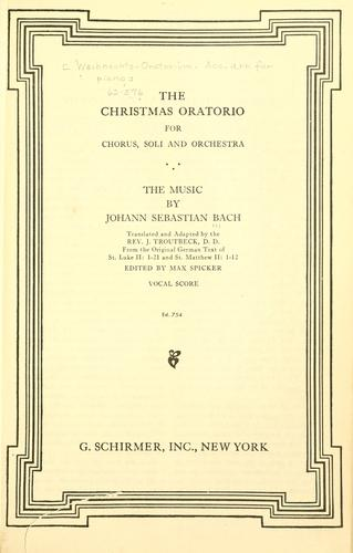 Download The Christmas oratorio