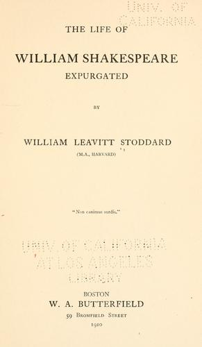 Download The life of William Shakespeare expurgated