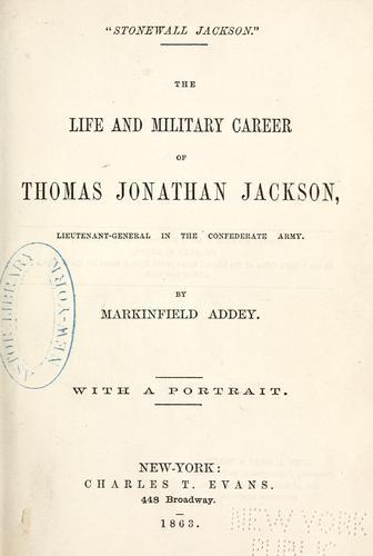 """""""Stonewall Jackson."""""""