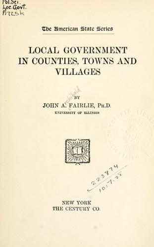 Local government in counties, towns and villages.