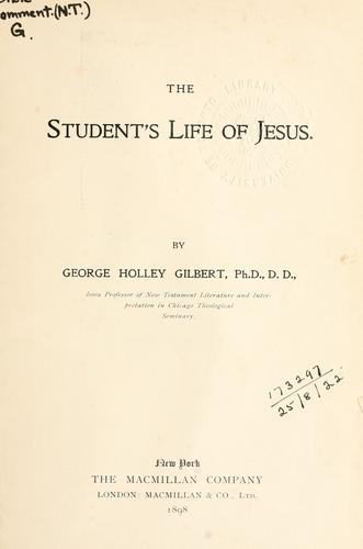 The student's life of Jesus.