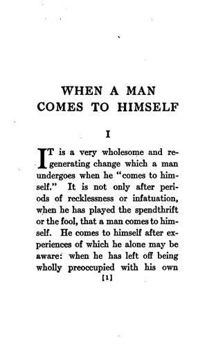 Download When a Man Comes to Himself