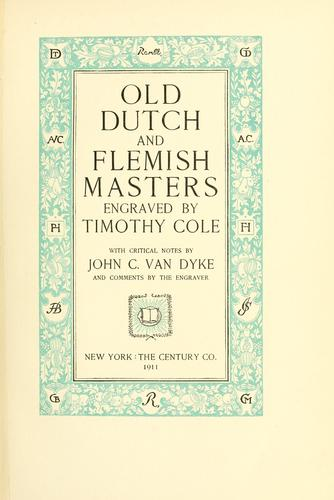 Download Old Dutch and Flemish masters