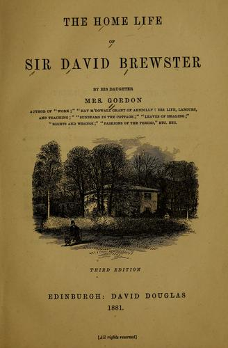 Download The home life of Sir David Brewster