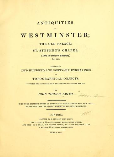 Download Antiquities of Westminster…